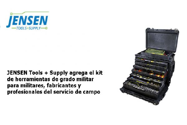JENSEN Tools + Supply agrega el kit de herramientas de grado militar para militares, fabricantes y profesionales del servicio de campo