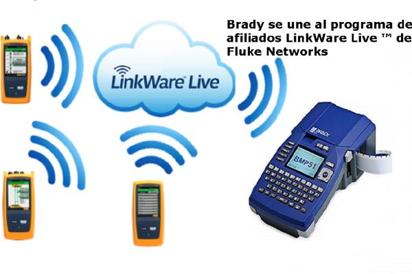 Brady se une al programa de afiliados LinkWare Live ™ de Fluke Networks para integrar sistemas de impresión con una plataforma de gestión de resultados basada en la nube líder en la industria